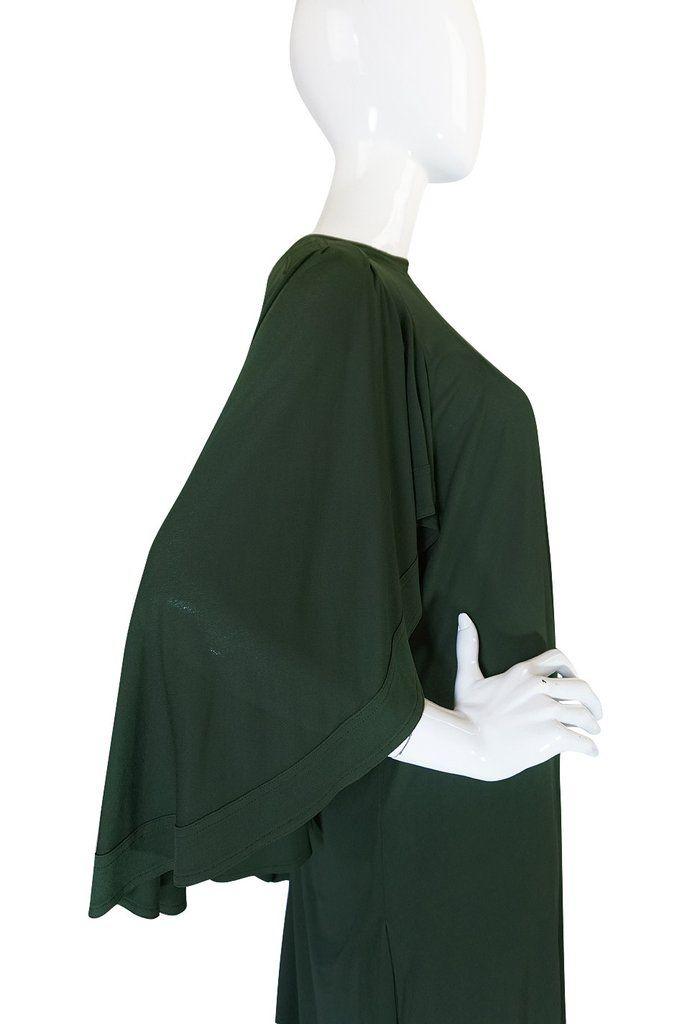 c.1980 Jean Muir Cape Back Museum Piece Dress