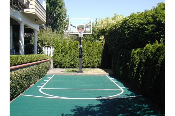 25 best backyard basketball court ideas on pinterest for Backyard sport court
