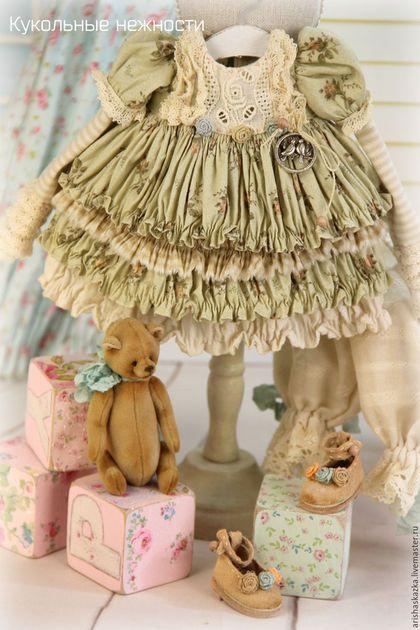 """Одежда для кукол ручной работы. Комплект для куклы  """" Фисташковая нежность"""". Кукольные нежности от Ариши. Ярмарка Мастеров. Одежда для кукол"""
