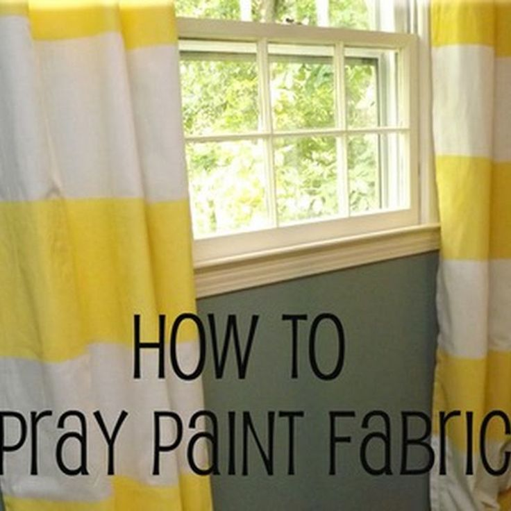 Life on Mars: How to Spray Paint Fabric {Striped Curtain Tutorial}