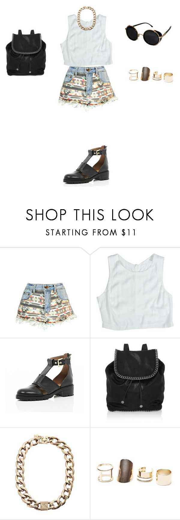 """Untitled #45"" by elenekhurtsilava on Polyvore featuring Boohoo, Lush Clothing, River Island, STELLA McCARTNEY, Kardashian Kollection, With Love From CA and Topshop"