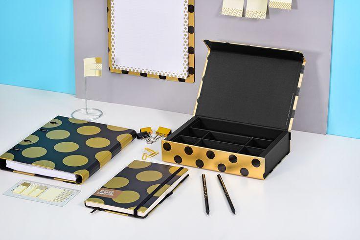 Linha Gold&Kraft: os itens de papelaria da linha ajudam a organizar e decorar o seu espaço de trabalho e estudo!