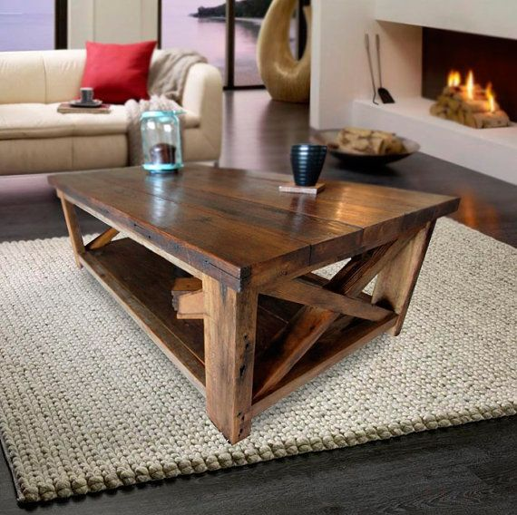 Black Friday Sale Wood Coffee Table Rustic By Paradiseoffurniture