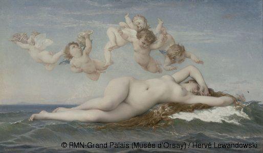 Alexandre Cabanel,Naissance de Vénus,© RMN-Grand Palais (Musée d'Orsay) / Hervé Lewandowski