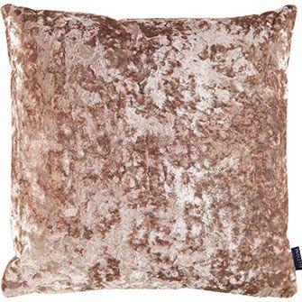 """Paoletti"" Oyster Crushed Velvet Cushion 50x50cm - TK Maxx"