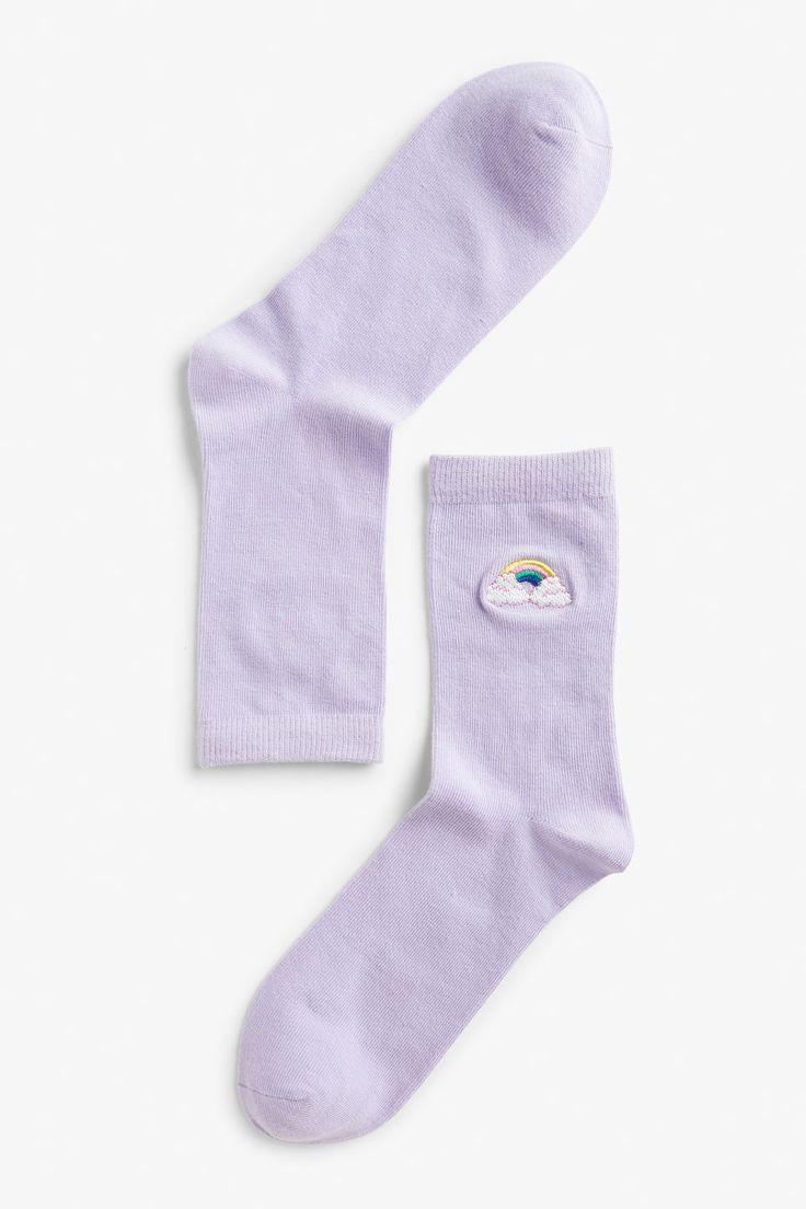 Rainbow socks - Rainbow - Socks & Tights - Monki SE