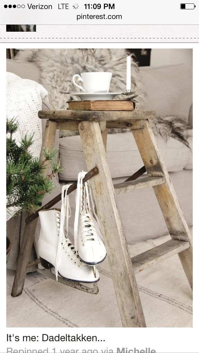 Ladder End Table
