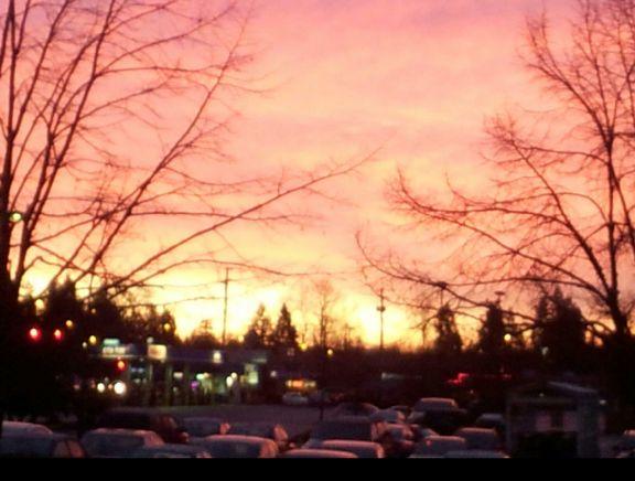 Early morning #sunrise Port coquitlam