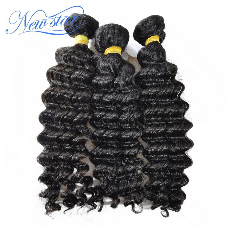 new star peruvian virgin hair deep wave curly style 100% unprocessed human hair last longer natural color can be bleached colors