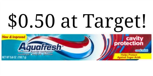 Target: Aquafresh Toothpaste Only $0.50!