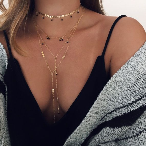 HOLIDAY SALE Crystal Necklace, Delicate Necklace, Lariat Necklace, Y Necklace, Dainty Layering, Gold y Necklace