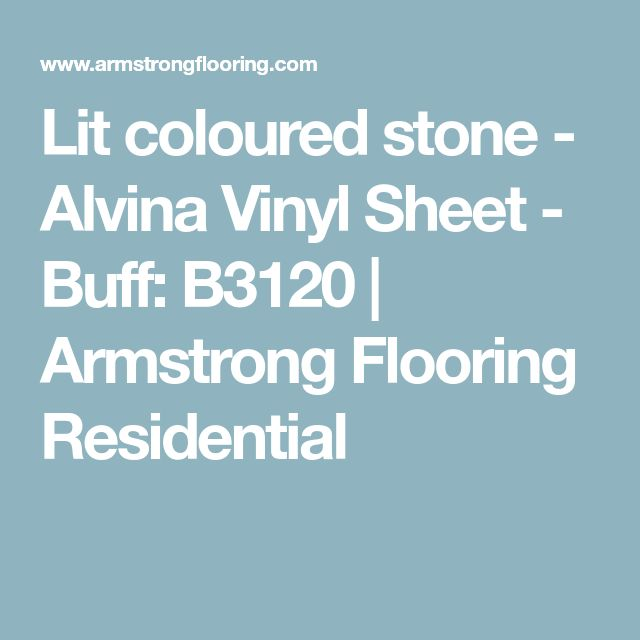 Lit coloured stone - Alvina Vinyl Sheet - Buff: B3120 | Armstrong Flooring Residential