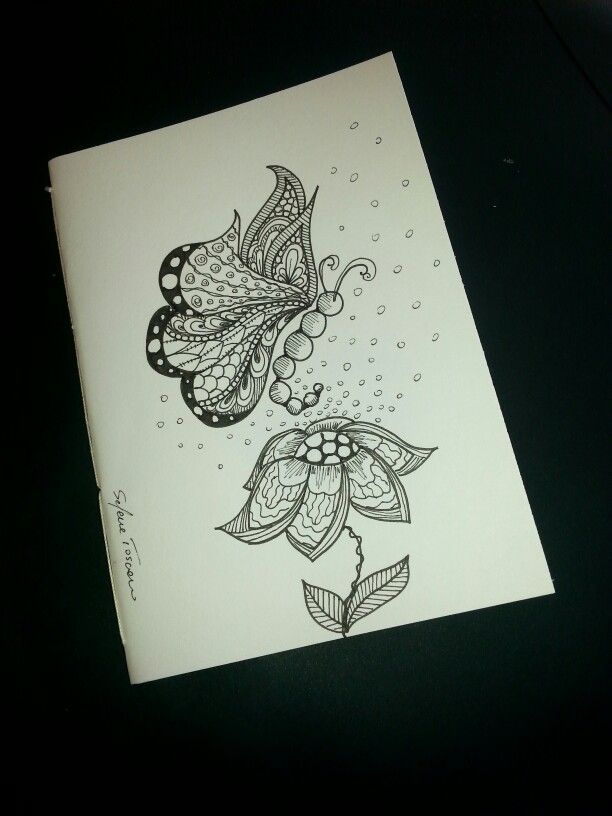 Notebook Cover Design ~ Illustrated notebook cover zentangle design diy