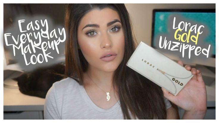 Everyday Glam Makeup ♡ | Lorac Unzipped Gold Palette