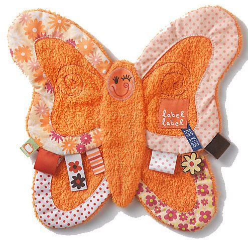 Label-Label knuffeldoekje Vlinder http://www.tuttelwinkel.nl/Knuffeldoekjes/label-label-knuffeldoekje-vlinder.html