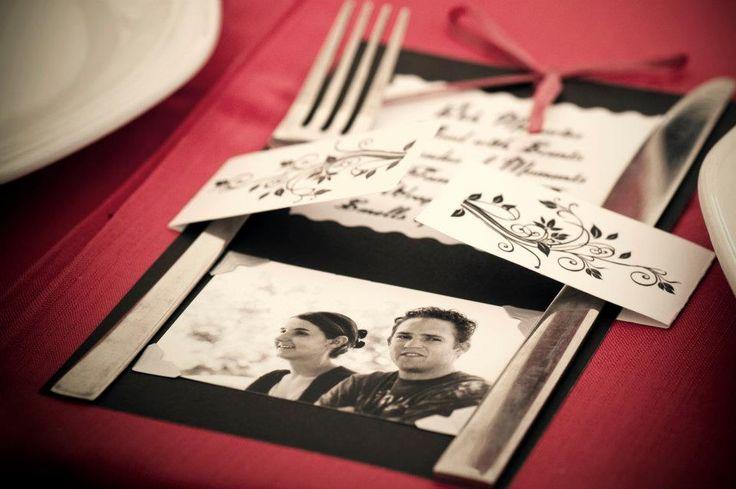 #wedding #knives #fork #holder #love #décor #event  #wedding #table #decor #red #black #roses www.jades.co.za/