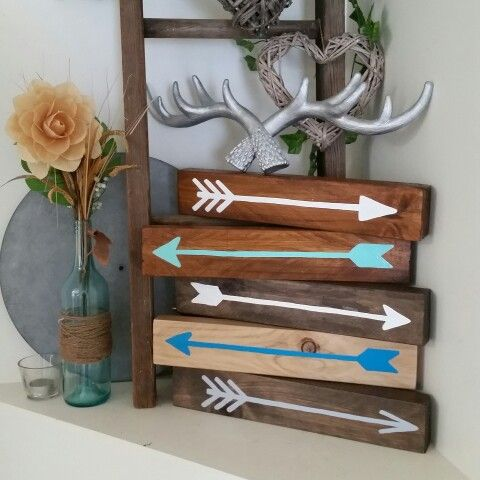 Rustic block arrows  These are perfect to add to any decor Made from recycled wood. www.facebook.com/rustictimberdesign