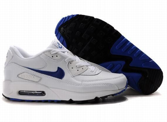 https://www.kengriffeyshoes.com/nike-air-max-90-white-blue-p-660.html NIKE AIR MAX 90 WHITE BLUE Only $68.00 , Free Shipping!