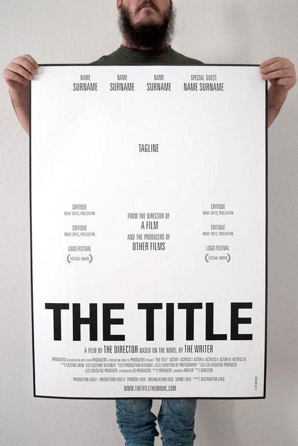 How To Make A Movie Poster: A Template For Students. Possibility: Make posters f…