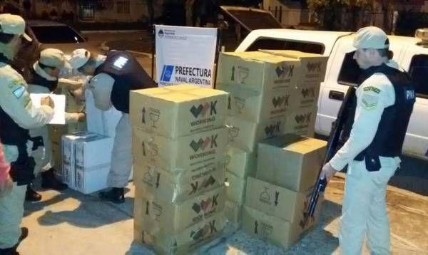 """""""Mercadería clandestina"""": se incautó bienes ilegales valuados en más de un millón de pesos en Corrientes y Misiones"""