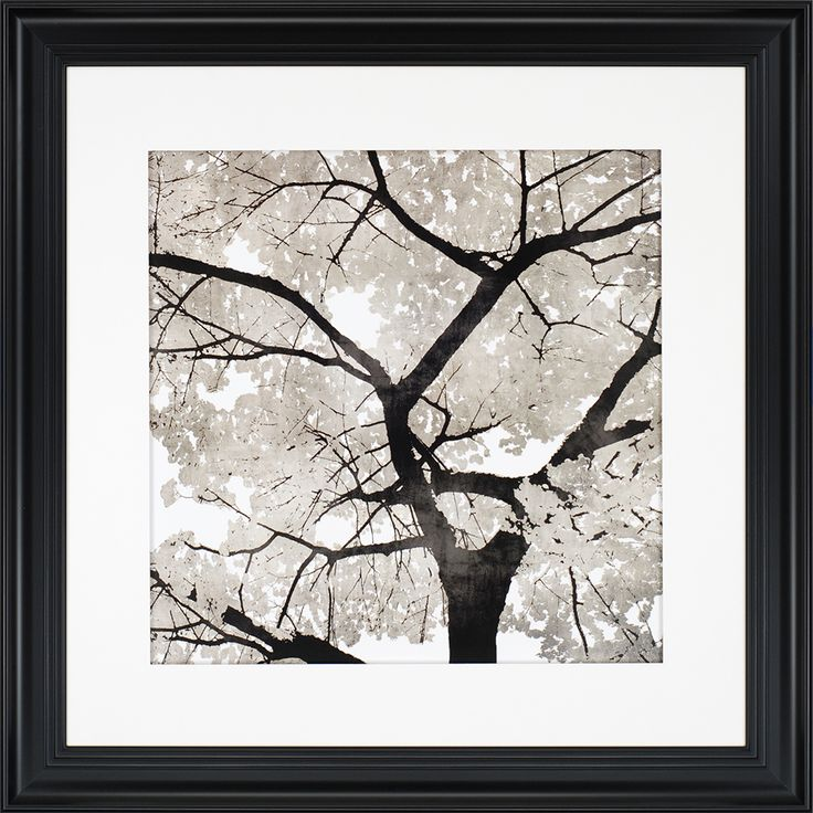 Paragon decor silver leaves framed wall art with a masterful use of perspective the artist bennett makes you feel as if you are standing outdoors beneath