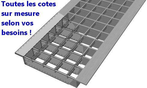 caniveau CIR caillebotis acier metal grille
