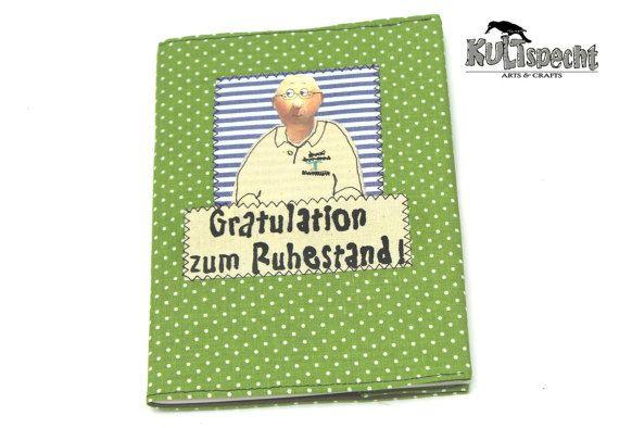 Grünes Büchlein, Portrait, Firmenlogo, Stoff grün, Punkte, Logo aufsticken, gepunktet, Made in Germany, german handmade, Abschiedsgeschenk