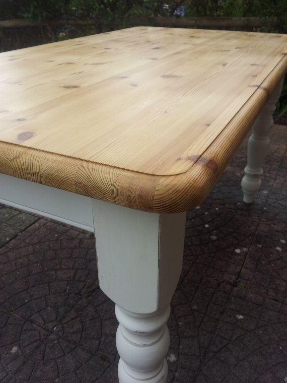 Beautiful farm house pine kitchen table sanded by PaintedSongbird