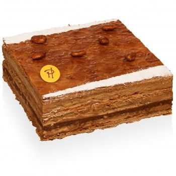 2000-feuilles-pierre-herme Pâte feuilletée caramélisée, praliné feuilleté aux noisettes du Piémont, crème mousseline au praliné.