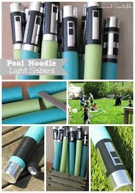 Clean & Scentsible: Star Wars Party Pool noodle light sabers
