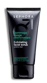 Exfoliating facial scrub