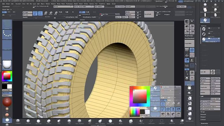 Zbrush 4r7 Tutorial - Modeling a Wheel using Zmodeler+ ArrayMesh Part 2