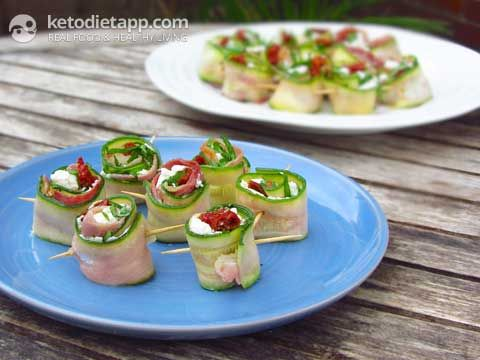 The KetoDiet App Blog | Italian-Style Zucchini Rolls              Omit goat cheese for level 3 of the 21DSD