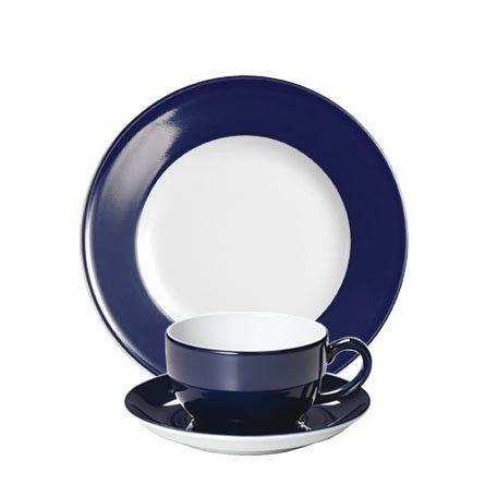 #Dibbern Solid Color Marine - Frühstücksgedeck