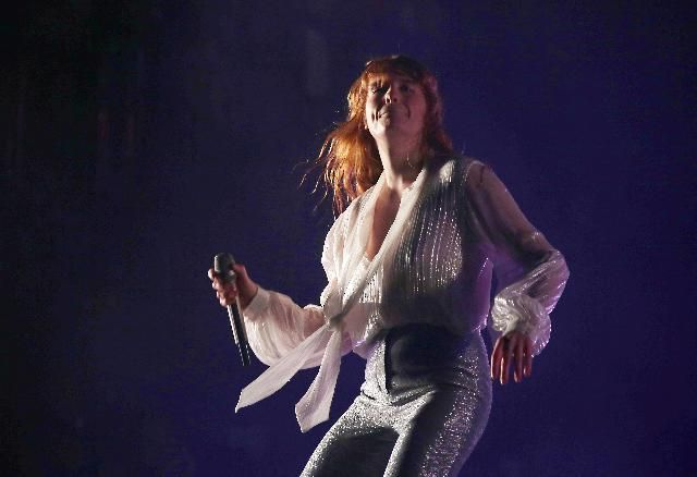 Florence + the Machine is nominated for a Mercury Prize. Florence Welch performs on the Pyramid stage during Glastonbury Music Festival on Friday, June 26, 2015 at Worthy Farm, Glastonbury, England.