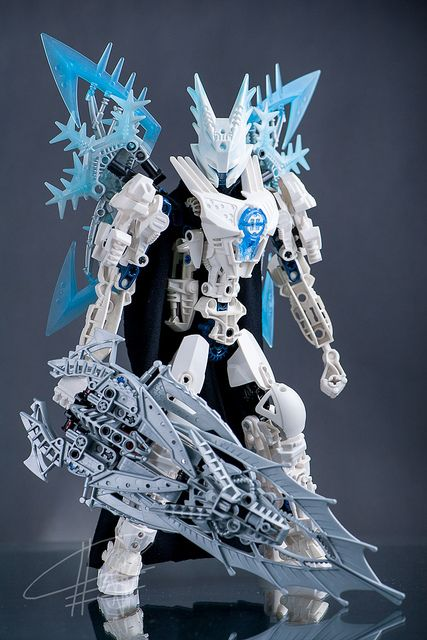 bionicle (Hero Factory pieces were used, too)