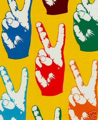 peace sign fabric color
