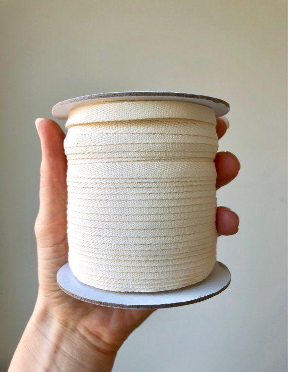 "1/"" Cotton Twill Finishing Tape Trim Herringbone ~ White 12 yd"