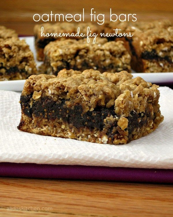 oatmeal fig bars | homemade fig newtons   Juli 3/29/2016 Great flavors. Next time, I will bake in a larger pan to make thinner bars because the fig filling was too thick. These are rich.