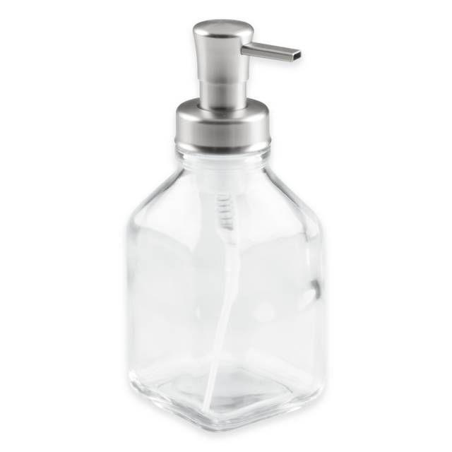interdesign cora glass foaming soap dispenser pump