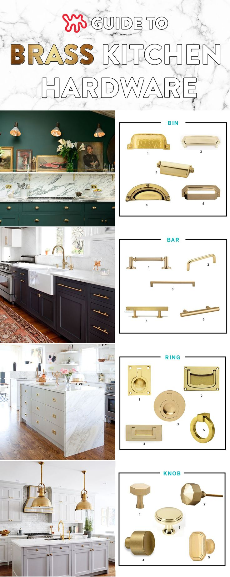 All About That Brass: A Kitchen Hardware Shopping Guide | Pull Bar, Hardware  And Bar