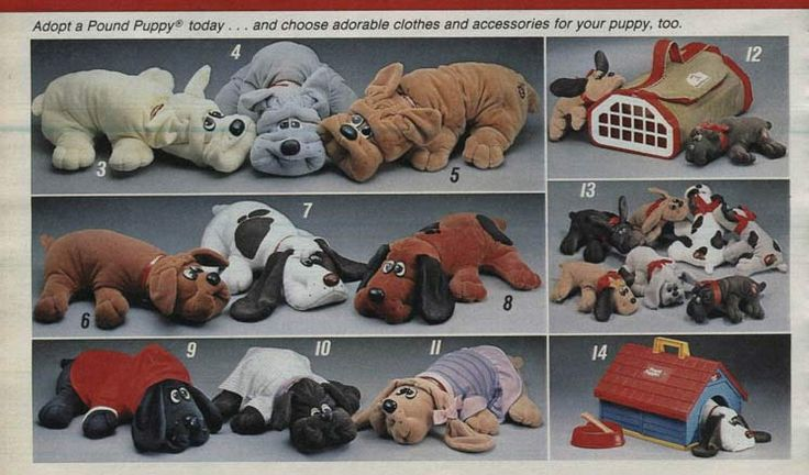 Pound Puppies from a 1986 catalog #vintage #1980s #toys