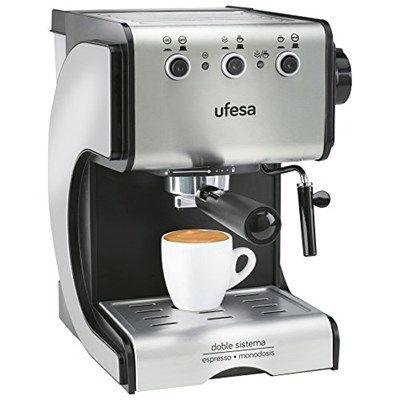 Chollo en Amazon España: Cafetera expreso Ufesa Duetto Creme por solo 63,20€ (un 42% de descuento sobre el precio de venta recomendado)
