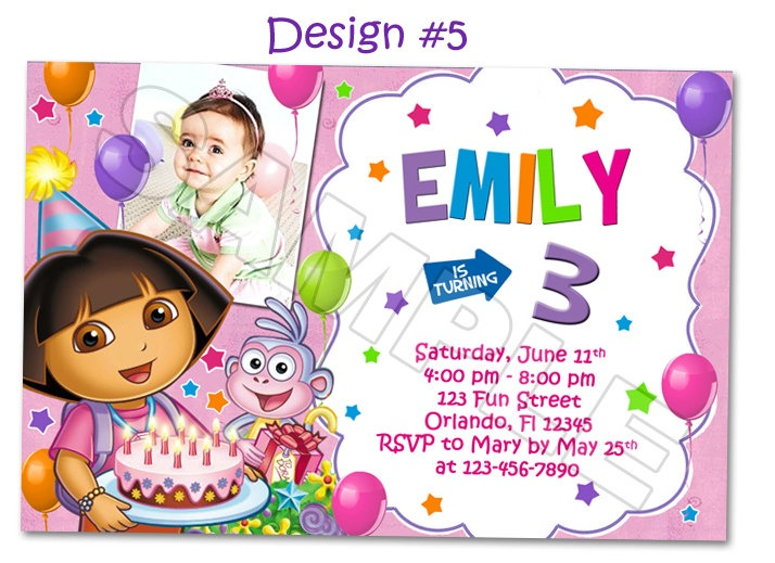 21 best Cake Ideas images – Printable Dora Birthday Invitations