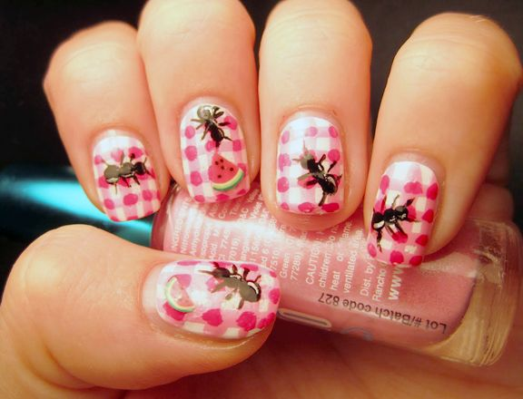 112 best memorial day nail art images on pinterest nail art bbq themed nail art just in time for memorial day prinsesfo Choice Image