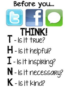 Use this PDF file to print a poster to hang in your classroom. This poster encourages students to use digital media in an encouraging way. ...