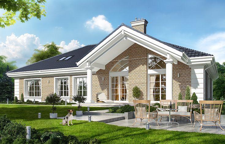 Projekt domu Willa parkowa 3 - wizualizacja tylna