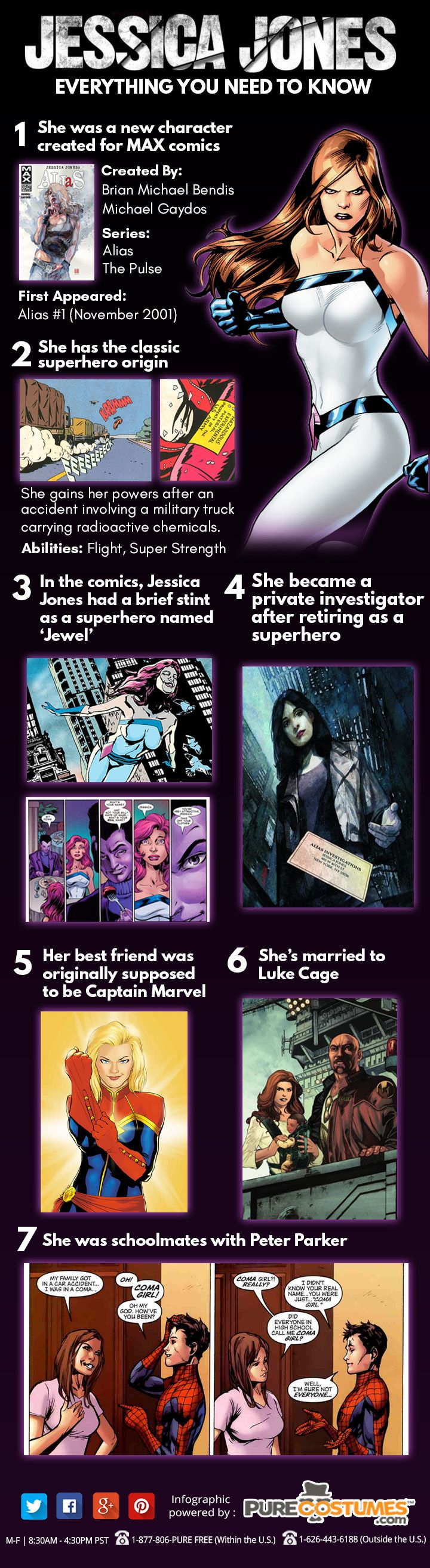 Jessica Jones Infographic #marvel #superheroes #infographics