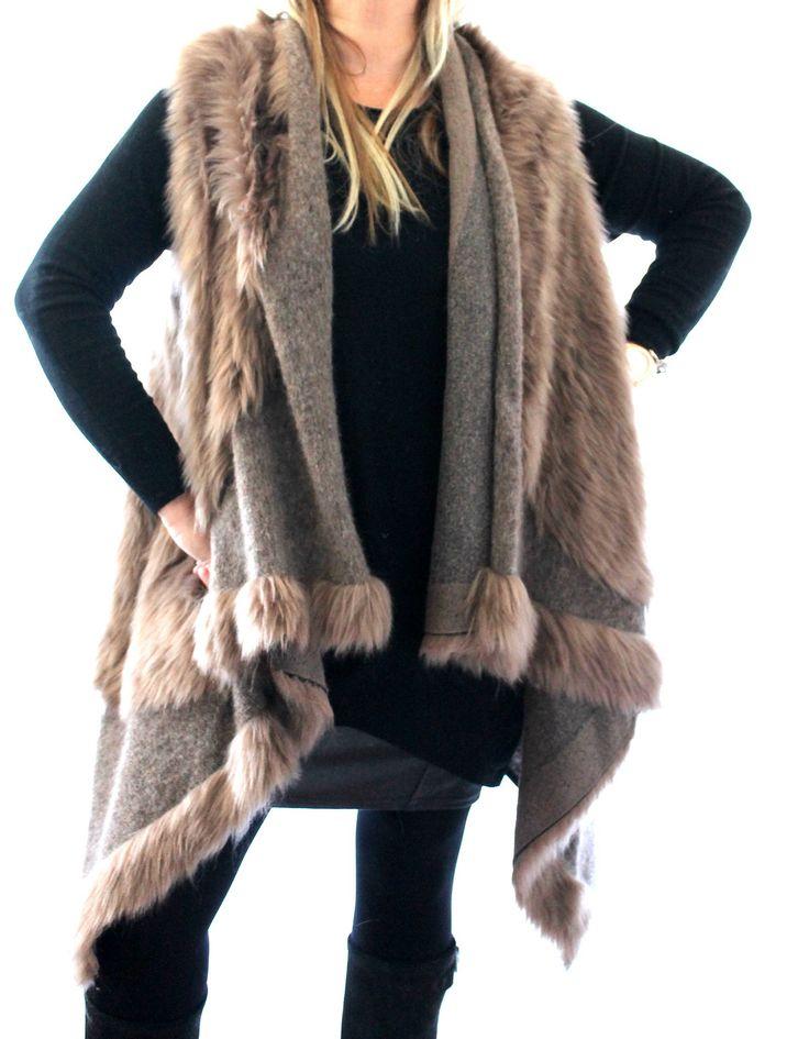 cape fourrure grande taille grande taille femme boheme boho bohemian. Black Bedroom Furniture Sets. Home Design Ideas