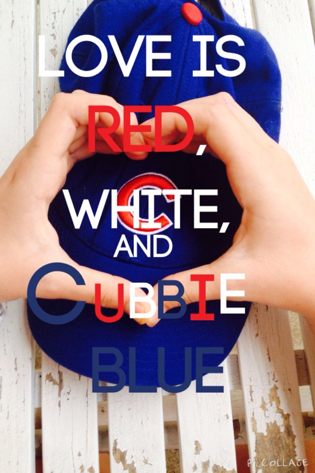 Love is red, white, and Cubbie blue!